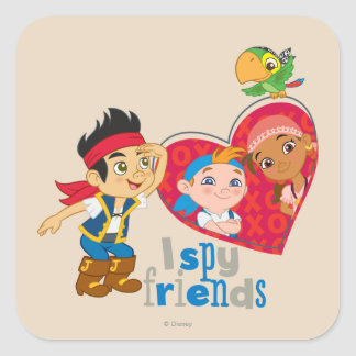 Jake and the Never Land Pirates | I Spy Friends Square Sticker