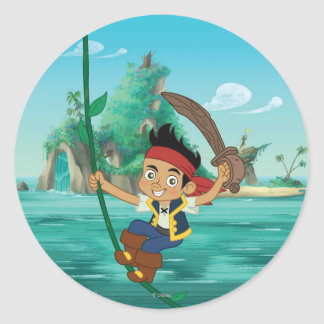 Jake and the Never Land Pirates | Jake Running Classic Round Sticker