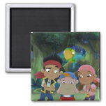 Jake and the Neverland Pirates 3 2 Inch Square Magnet