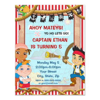 Jake and the Neverland Pirates Birthday Invitation