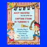"Jake and the Neverland Pirates Birthday Invitation 4.25"" X 5.5"" Invitation Card"