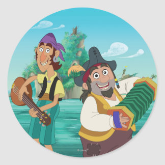 Jake and the Neverland Pirates | Sharky & Bones Classic Round Sticker