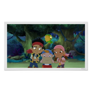 Jake and the Neverland Pirates | Treasure Map Poster