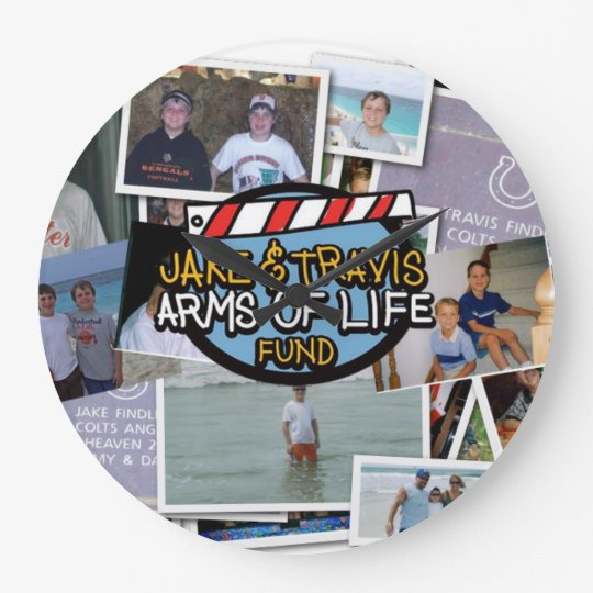 Jake and Travis Arms of Life Wall Clock
