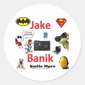 Jake Banik Classic Round Sticker