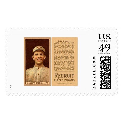 Jake Daubert Dodgers Baseball 1912 Stamp