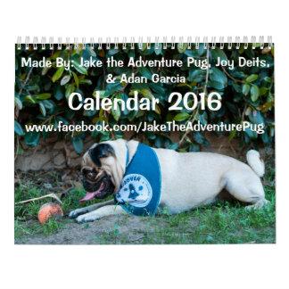 Jake el calendario del barro amasado 2016 de la