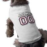 Jake - jersey 00 de los deportes - camiseta de la  playera sin mangas para perro