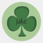 Jake Lucky Irish Shamrock Sticker