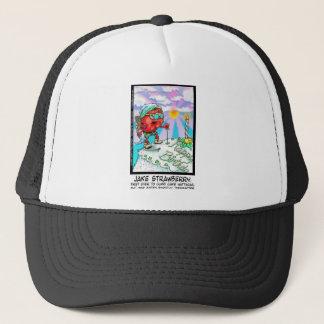 Jake Strawberry Funny Dessert Gifts & Links Trucker Hat
