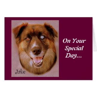 Jake the dog greeting card
