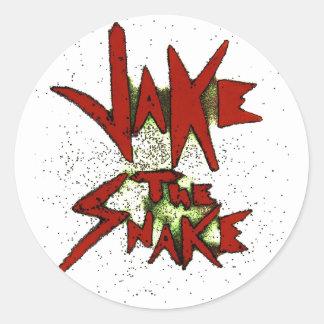 Jake the Snake Classic Round Sticker