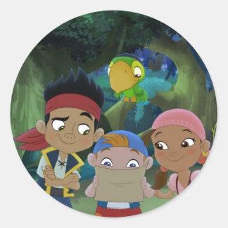 Jake y los piratas 3 de Neverland Pegatinas Redondas