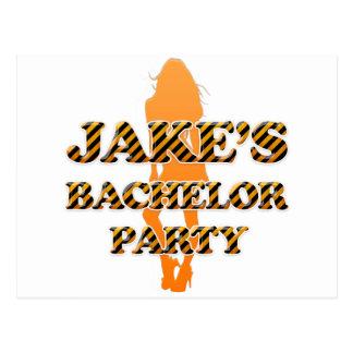 Jake's Bachelor Party Postcard