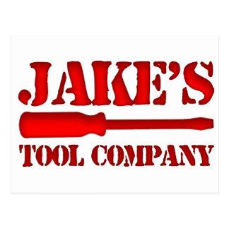 Jake's Tool Company Postcard