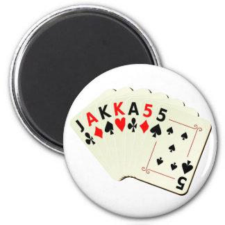 JAKKA55 Cards 2 Inch Round Magnet
