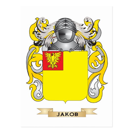 Jakob Coat of Arms (Family Crest) Postcard
