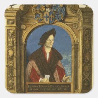 Jakob Fugger, from 'Geheim Ehrenbuch Square Sticker