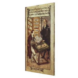 Jakob Fugger in his office, 1518 Gallery Wrapped Canvas