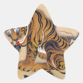 Jakuchu_ tiger figure star sticker