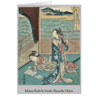 Jakuren Hoshi by Suzuki, Harunobu Ukiyoe Cards