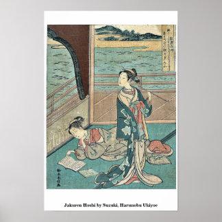 Jakuren Hoshi by Suzuki, Harunobu Ukiyoe Print