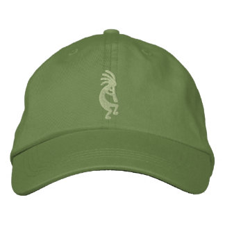 Jalapeno and Cactus Green Kokopelli Embroidered Baseball Hat