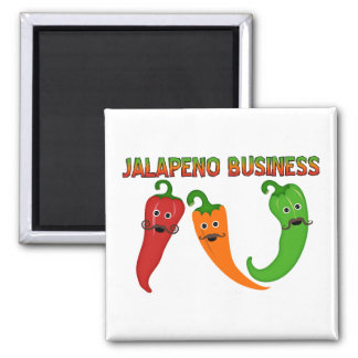 Jalapeno Business 2 Inch Square Magnet
