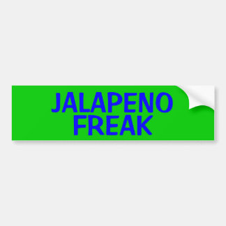 JALAPENO FREAK BUMPER STICKER