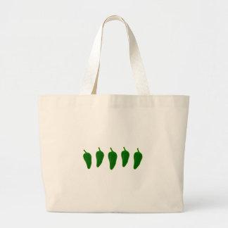Jalapeno (Jalapeño) Peppers Logo Jumbo Tote Bag