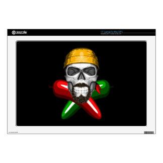 """Jalapeno Pepper Skull 17"""" Laptop Skin"""