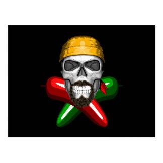 Jalapeno Pepper Skull Postcard