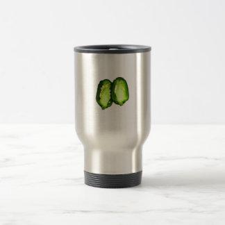 Jalapeno Pepper Two halves green pepper design Coffee Mugs