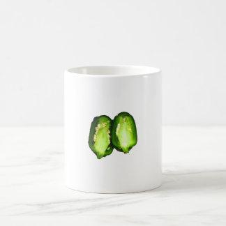 Jalapeno Pepper Two halves green pepper design Mugs
