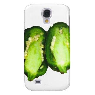 Jalapeno Pepper Two halves green pepper design Samsung Galaxy S4 Case
