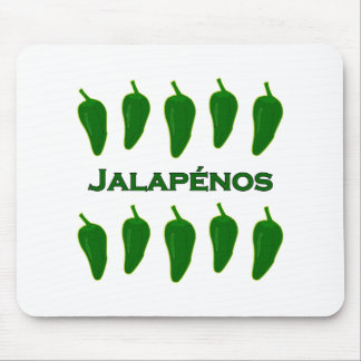 Jalapeno Peppers (titled) Mouse Pad