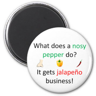 Jalapeño redone 2 inch round magnet