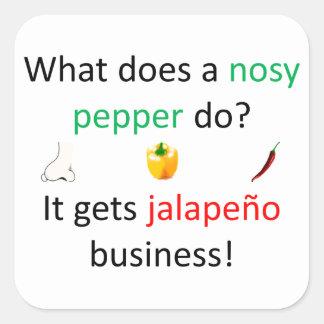 Jalapeño redone square sticker