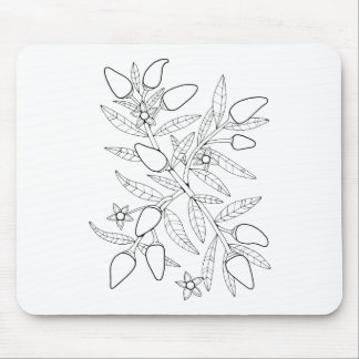 Jalapeno Spray Line Art Design Mouse Pad