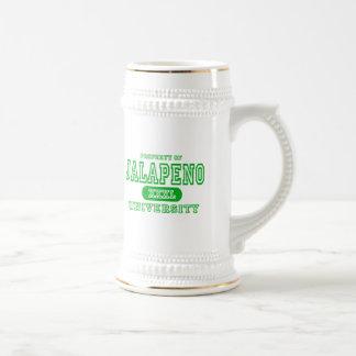 Jalapeno University Beer Stein