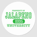 Jalapeno University Round Stickers
