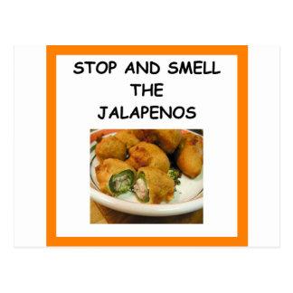 JALAPENOS POSTCARD