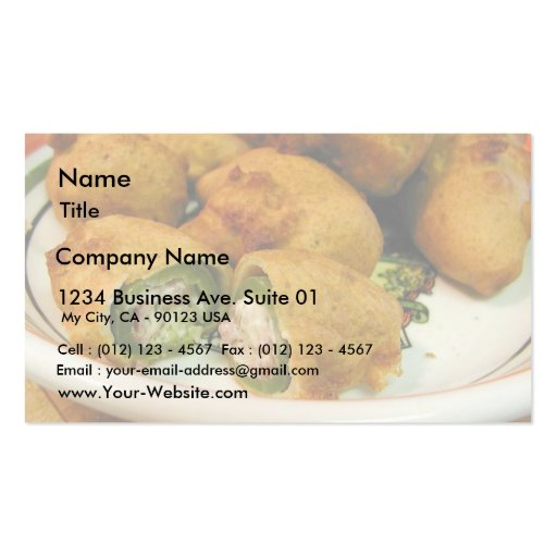 Jalapenos Stuffed Food Dinner Cooking Double-Sided Standard Business Cards (Pack Of 100)