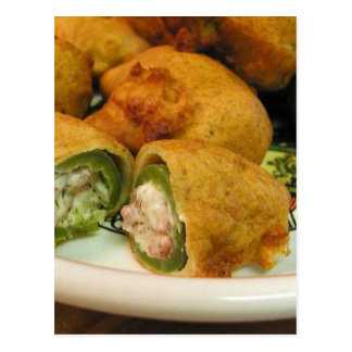 Jalapenos Stuffed Food Dinner Cooking Postcard