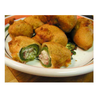 Jalapenos Stuffed Food Dinner Cooking Postcard