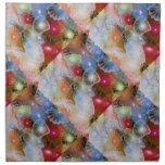 Jalea azul servilletas imprimidas