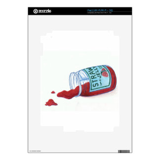 Jalea de la fresa iPad 2 calcomanía