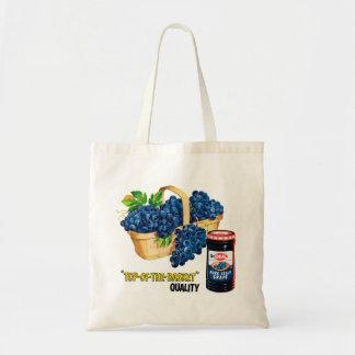 Jalea de uva de la comida del kitsch del vintage y bolsas