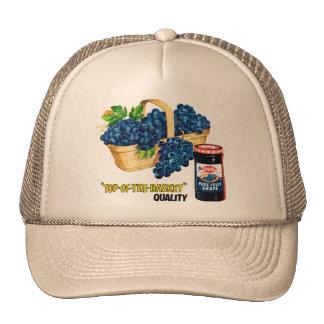 Jalea de uva de la comida del kitsch del vintage y gorra