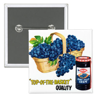 Jalea de uva de la comida del kitsch del vintage y pin